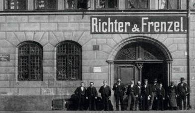 Historicka fotka, sídlo R+F | Richter + Frenzel
