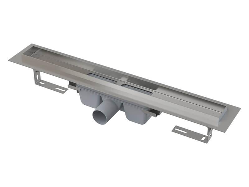 Sprchový žlab ALCAPLAST Žlab bez roštu, snížený, nerez, průměr odpadu 50 mm, průtok 60l/min.