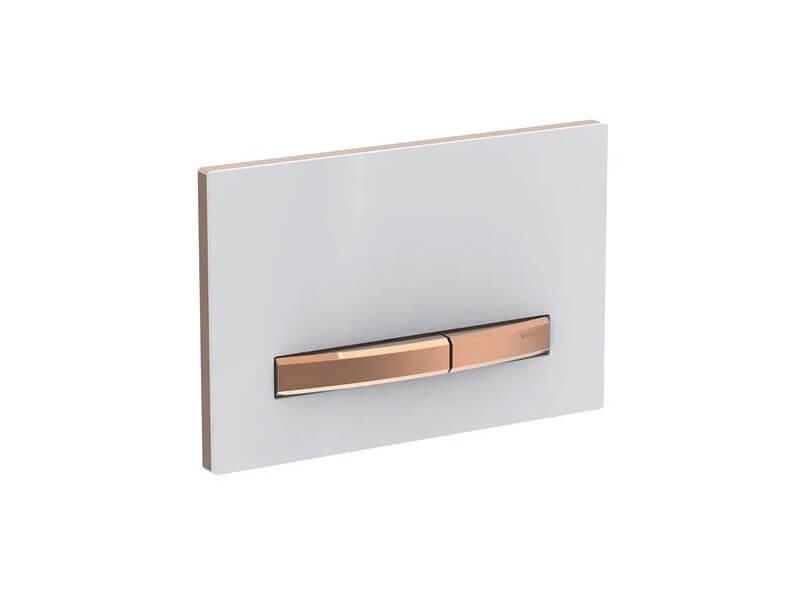 Deska ovládací GEBERIT Dual flush, zinkový odlitek/plast, barva: červenozlatá/kov