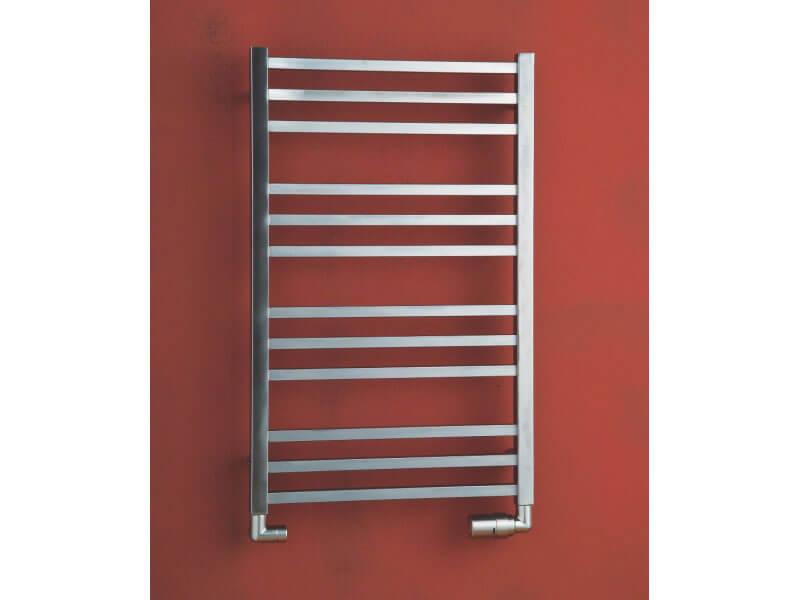 Koupelnový radiátor AVENTO Rovný radiátor, boční připojení, nerez