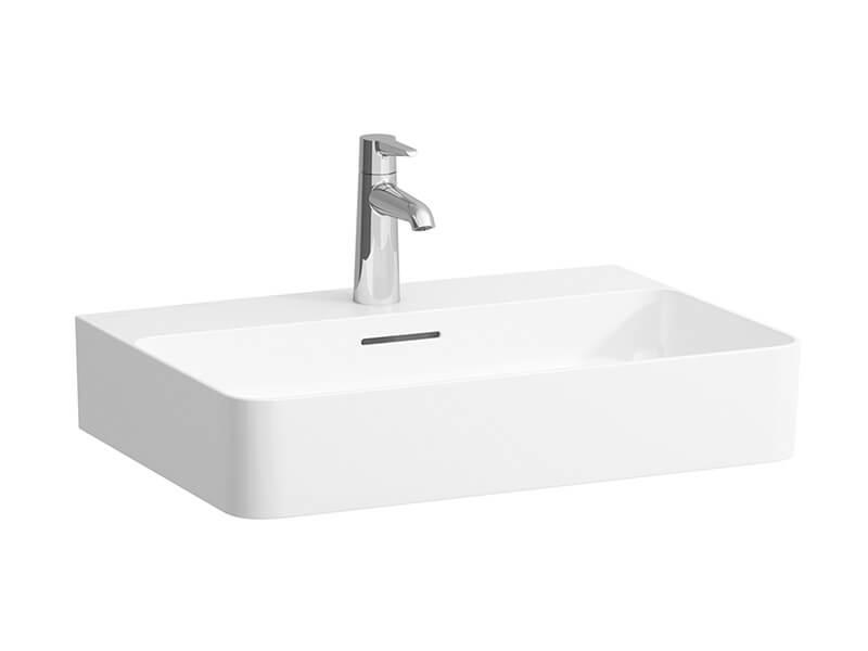 Umyvadlo - Saphir Keramik Bílé umyvadlo s otvorem pro baterii, s přepadem