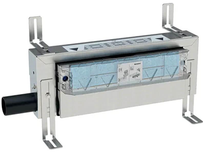 Sprchový žlab GEBERIT Žlab bez roštu do stěny, nerez, průměr odpadu 50 mm, průtok 48l/min.