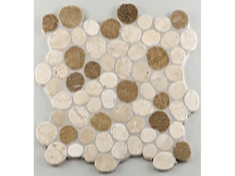 Mozaika STONES Barva: bílo-béžová, matný povrch