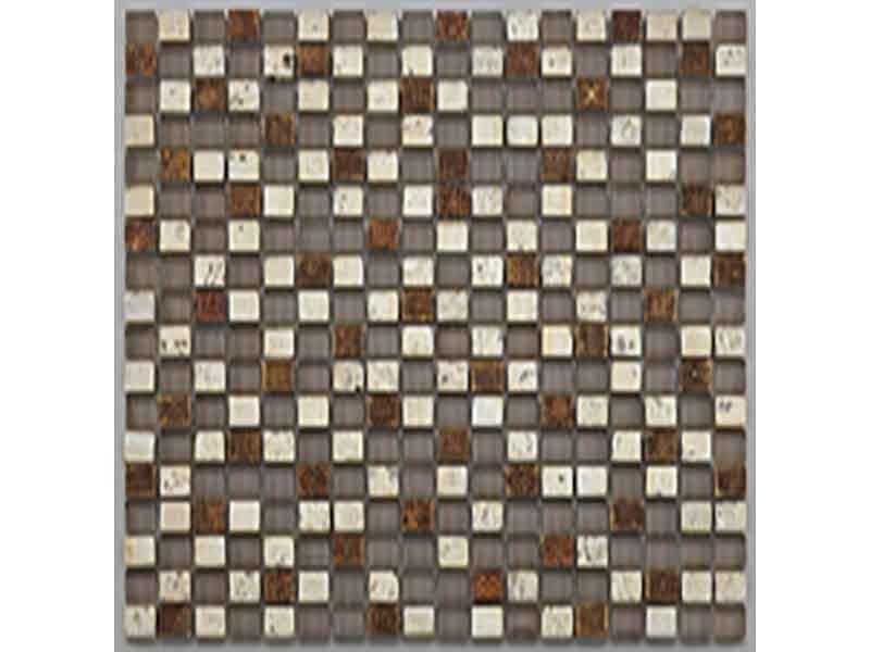 Mozaika TUSCANY Barva: hnědo-stříbrná, lesklý povrch