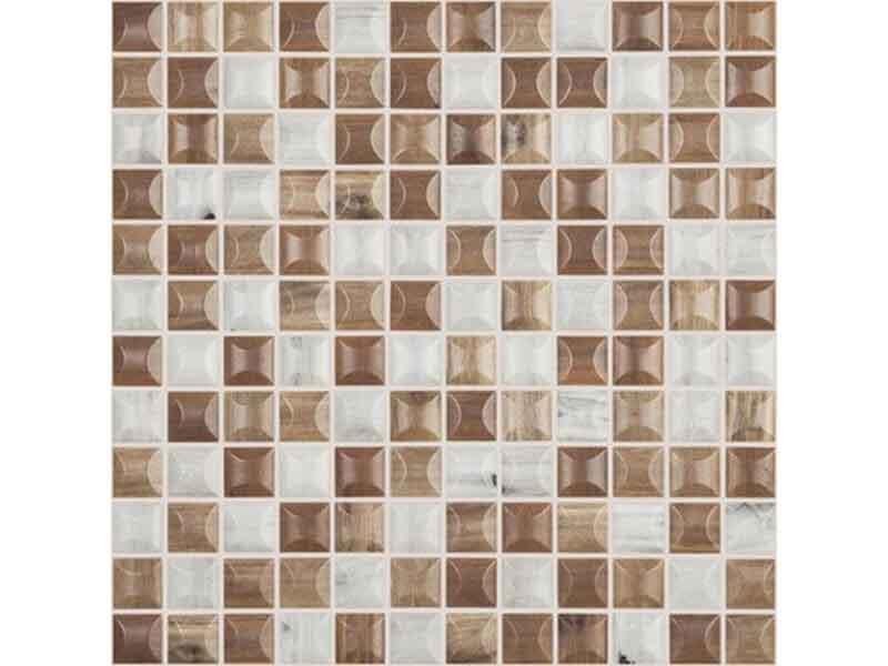 Mozaika WOODS Barva: blend 3D woods, matný povrch