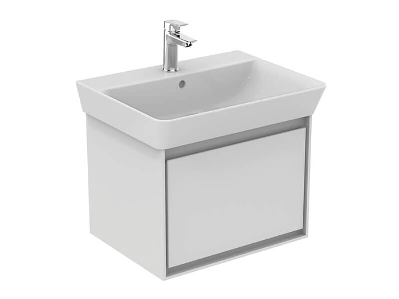 Skříňka pod umyvadlo CONNECT Bílá závěsná skříňka, matná, 1x zásuvka