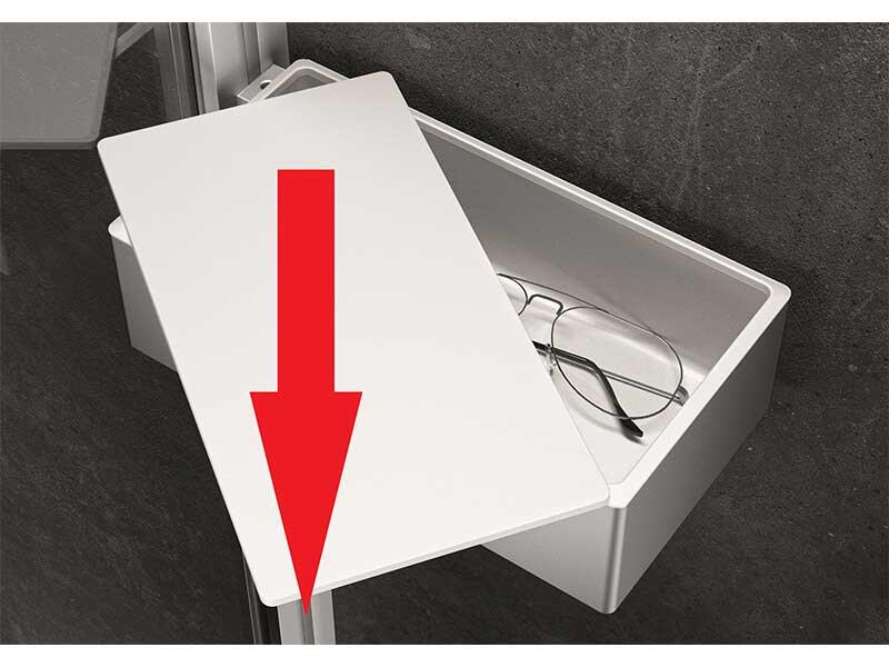Montážní sada ORGANIZER Hüppe Barva rámu: stříbrná pololesklá