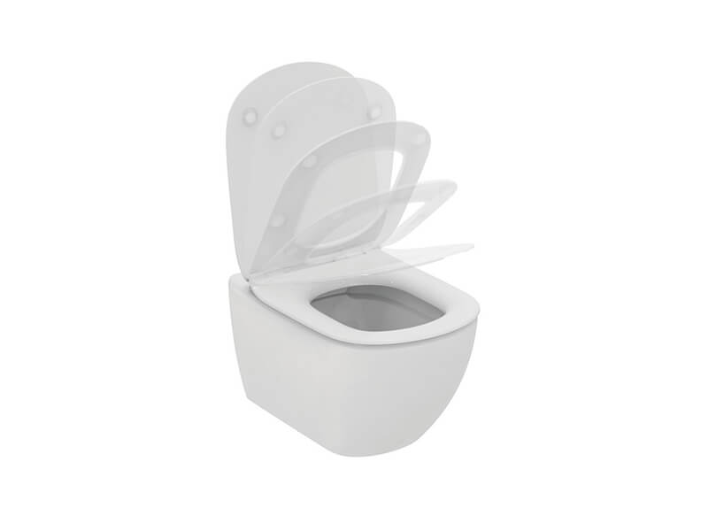 WC závěsné TESI a sedátko Barva: bílá, Rimless, závěsné WC včetně sedátka