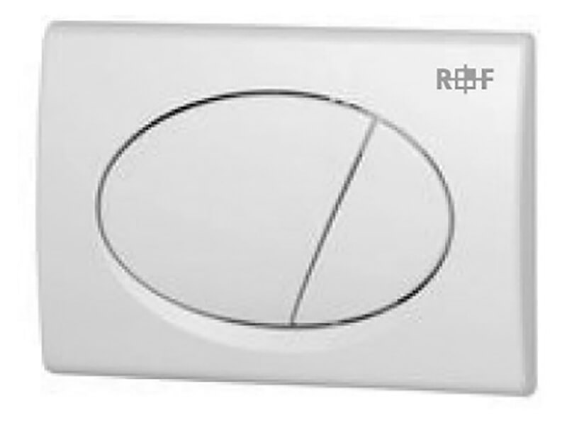 Ovládací deska PLANO Dual flush, materiál plast, barva: bílá