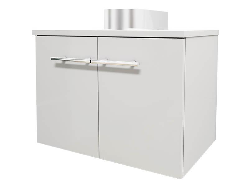 Skříňka pod umyvadlo BERN Závěsná skříňka, 2x dvířka, barva: bílá