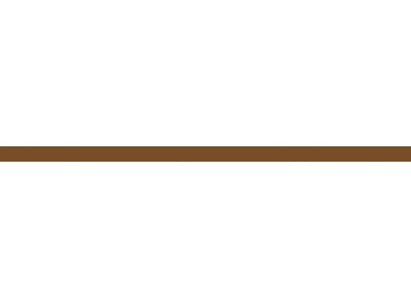 Listela skleněná Adore Barva: hnědá, lesklý povrch