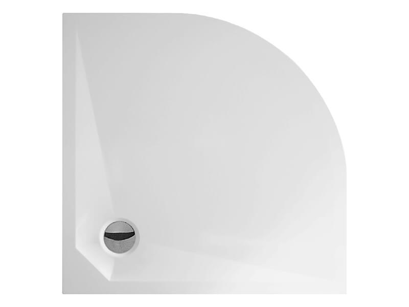 Sprchová vanička DAVOS 1/4 kruh, litý mramor, rádius R550, barva: bílá