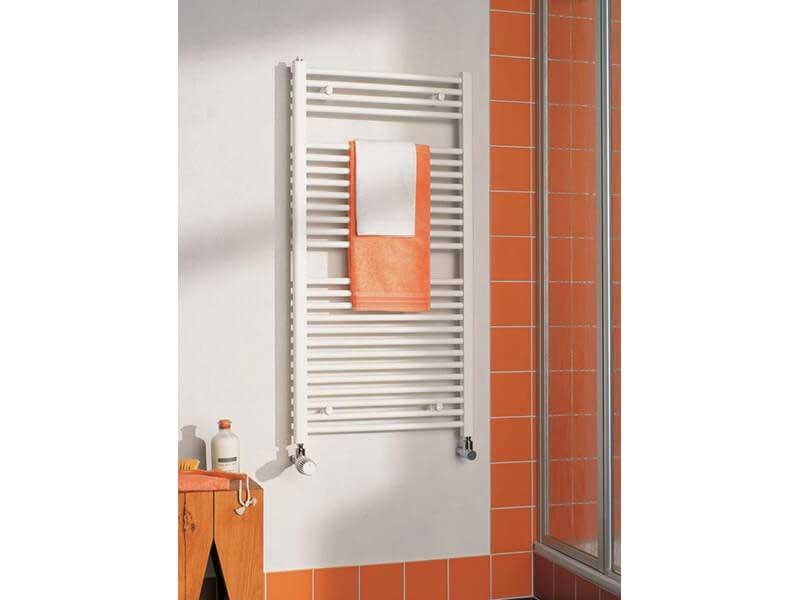 Koupelnový radiátor B20 R Rovný radiátor s bočním připojením, barva: bílá