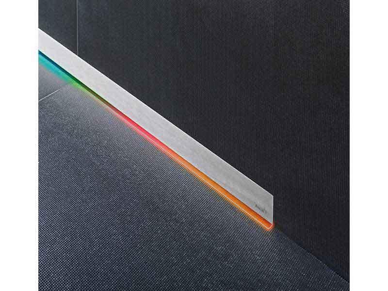 Žlab sprchový s roštem ALCAPLAST Plast / nerez, průměr odpadu 50 mm, průtok 60l/min, barva rámu nerez