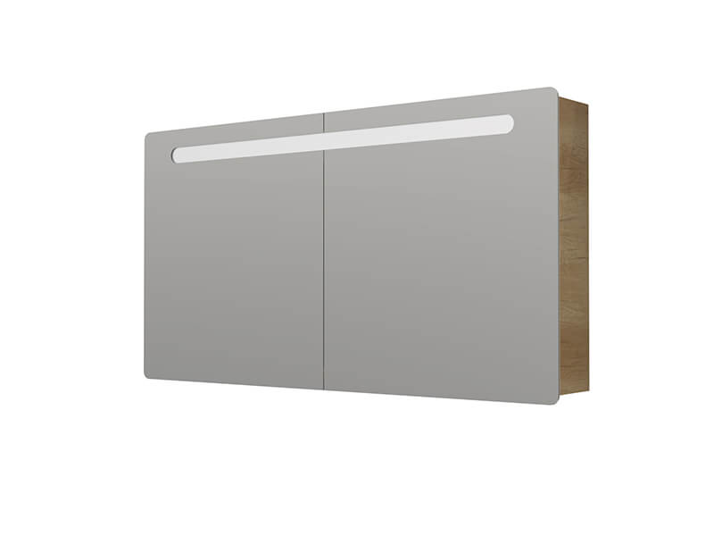 Skříňka zrcadlová s LED osvětlením Příkon: 18W, 3x dvířka, barva: dub Nebraska