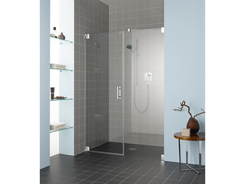 Sprchové dveře FILIA Otvírací dveře s boční protistěnou, čiré sklo s úpravou KermiClean, barva rámu chrom, nutné změřit před objednáním