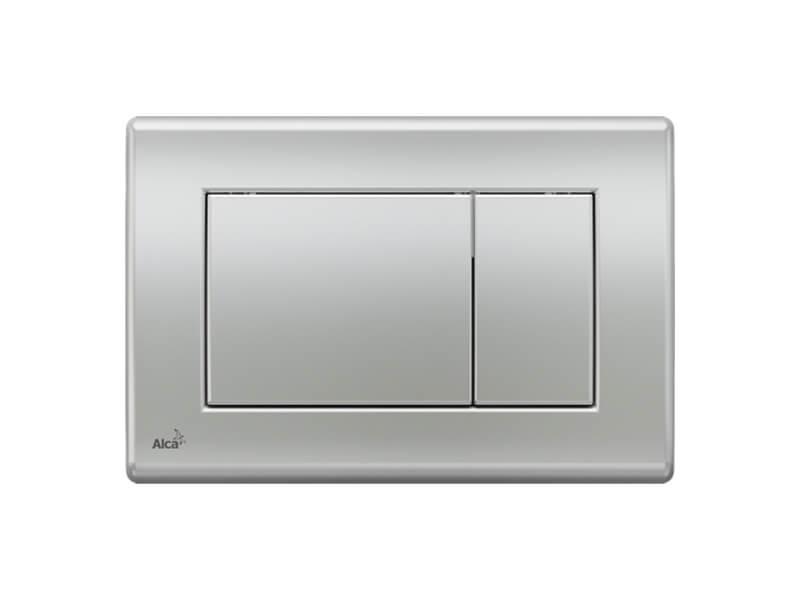 Ovládací deska ALCAPLAST Dual flush, plast, barva matný chrom