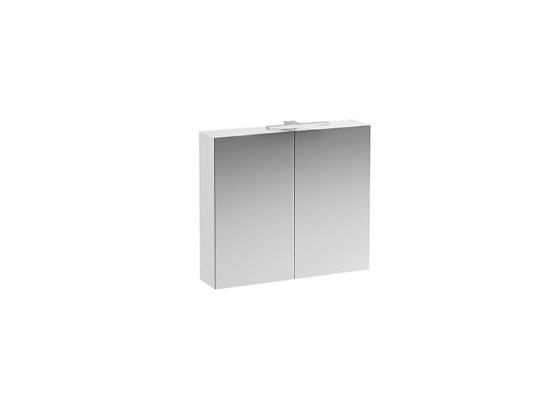 Skříňka zrcadlová s LED osvětlením LAUFEN BASE Příkon: 7W, 2x dvířka, barva tmavý jilm
