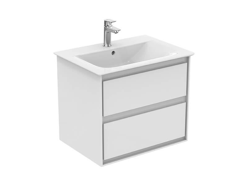 Skříňka pod umyvadlo CONNECT Barva: bílá / šedá, závěsná skříňka pod umyvadlo se 2 zásuvkami