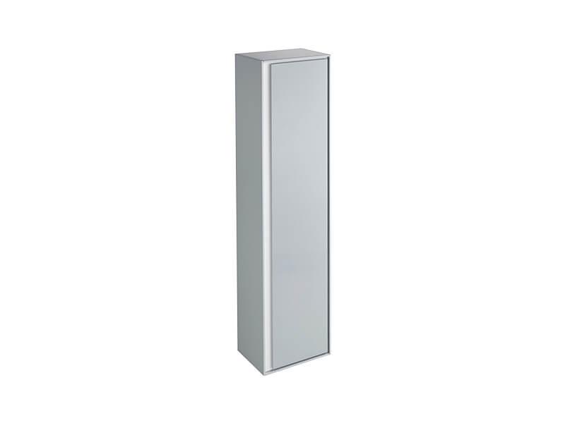 Skříňka boční vysoká CONNECT Barva: bílá / šedá, závěsná skříňka, levá / pravá, 1x dvířka