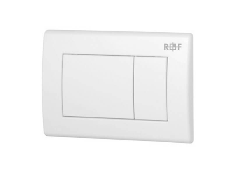 Deska ovládací PLANO Dual flush, materiál plast, barva bílá