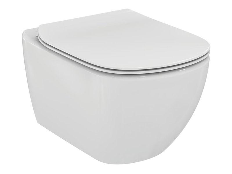 WC závěsné TESI a sedátko Barva: bílá, Aquablade, WC včetně sedátka Softclose