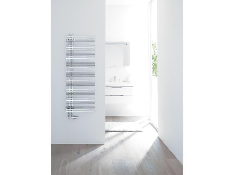 Koupelnový radiátor YUCCA Prohnutý radiátor, boční připojení, barva bílá