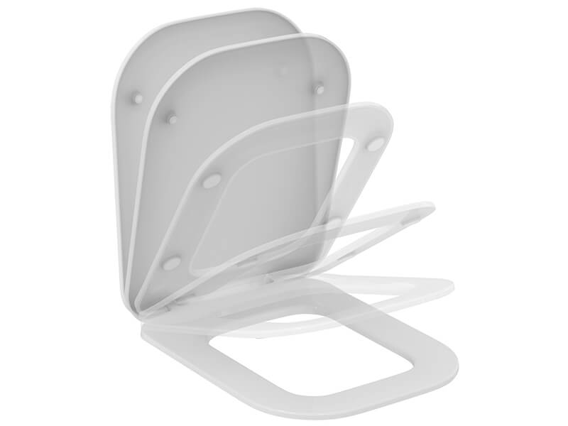WC sedátko TONIC II Barva: bílá, zpomalovací, duroplast