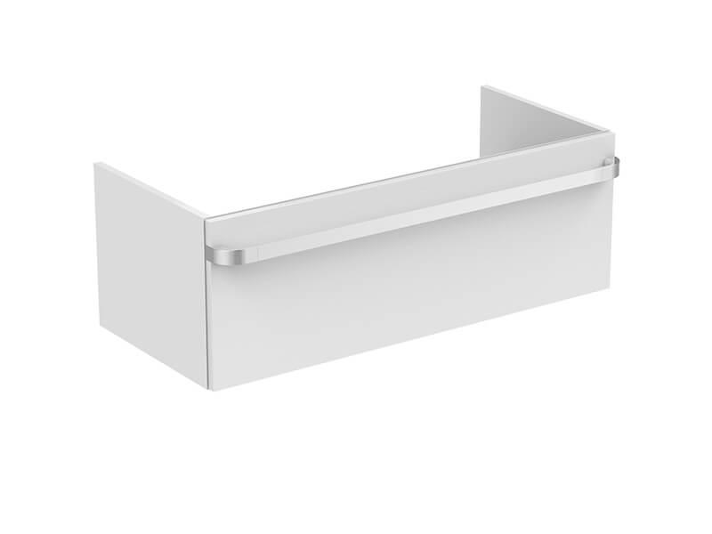 Skříňka pod umyvadlo TONIC II Závěsná skříňka bez madla, 1x zásuvka, barva bílý lesk