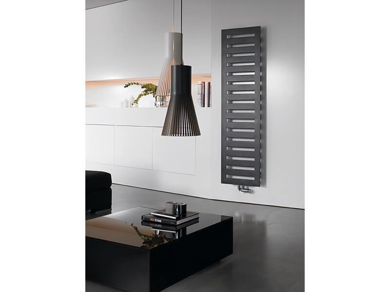 Koupelnový radiátor Metropolitan Rovný radiátor s bočním připojením, barva černá