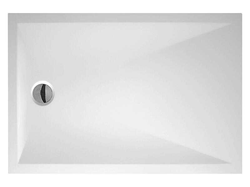 Vanička sprchová DAVOS PURE Obdélníková vanička, litý mramor, barva bílá