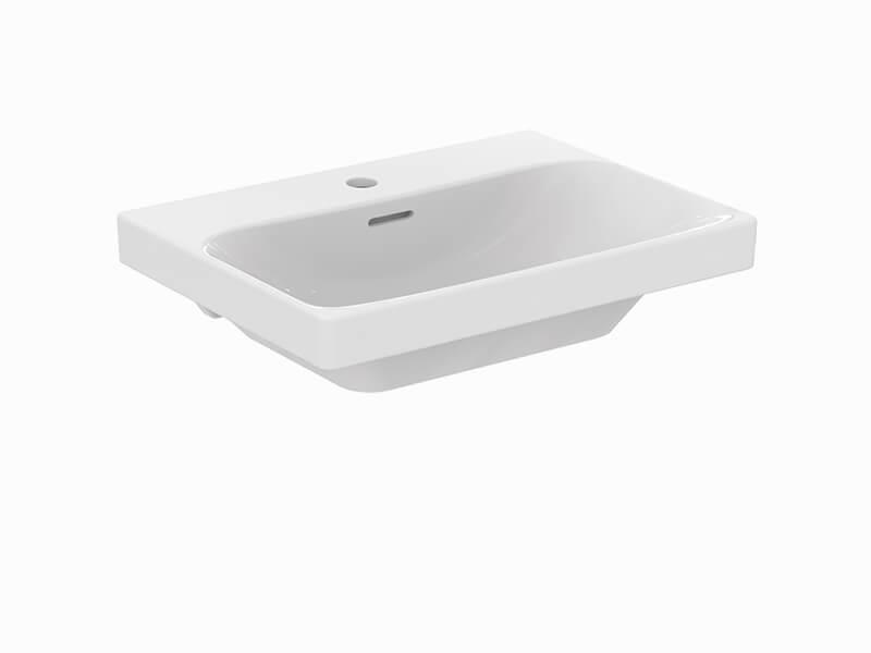 Umyvadlo nábytkové MYSTYLE 2.0 S otvorem pro baterii, s přepadem, barva bílá