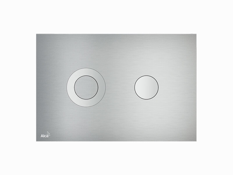Deska ovládací ALCAPLAST Dual flush, kov, barva Alunox mat