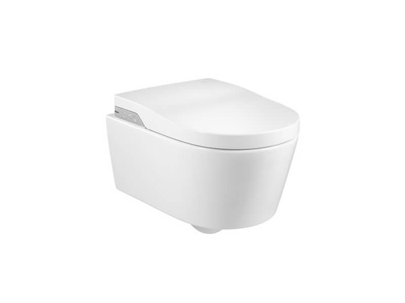 WC závěsné INSPIRA WC bílé včetně sedátka s bidetovací funkcí, rimless
