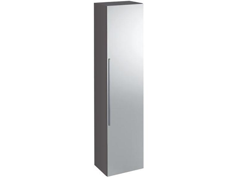 Skříňka boční vysoká ICON Závěsná skříňka, 1x dvířka se zrcadlem, pravá, barva platinum