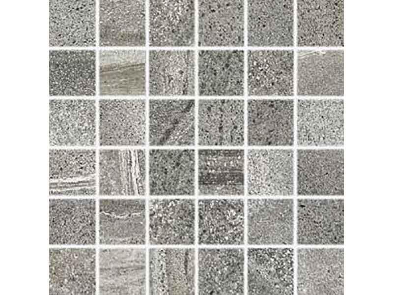 Mozaika RANDOM Barva: tmavě šedá, matný povrch, mrazuvzordný, otěruvzdornost PEI5