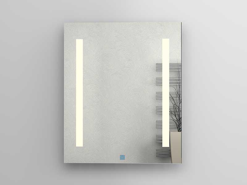 Zrcadlo s LED osvětlením Plano Davos Příkon osvětlení 2x 7,5W, IR senzor