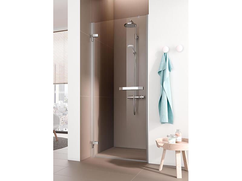 Sprchové dveře TUSCA Čiré sklo + KermiClean, barva rámu: stříbrná s vysokým leskem