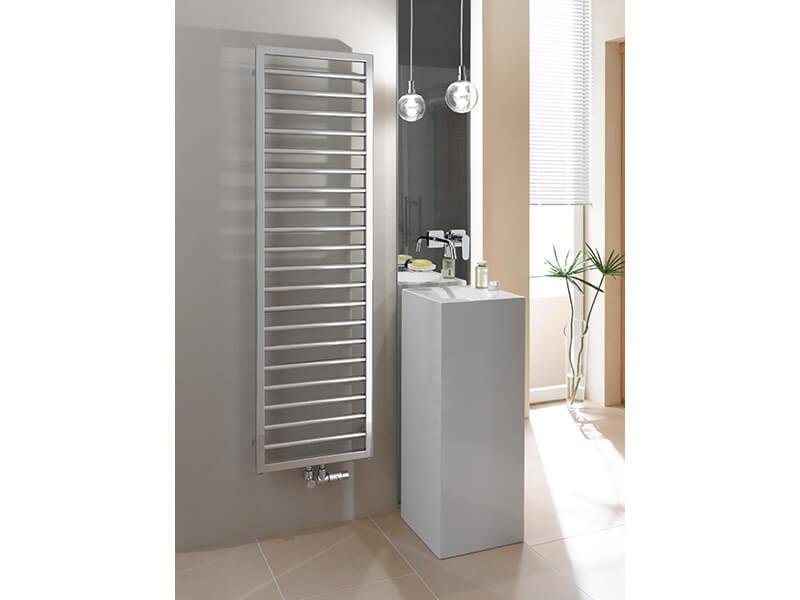 Koupelnový radiátor SUBWAY Rovný radiátor s bočním připojením, barva chrom