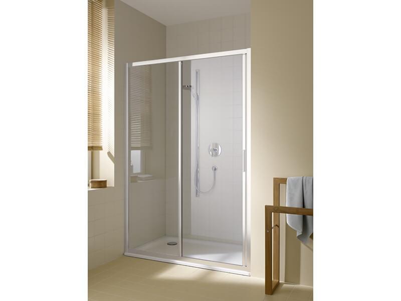 Dveře sprchové DAVOS PLUS Posuvné dveře, čiré sklo s úpravou Clean, barva rámu: stříbrná s vysokým leskem