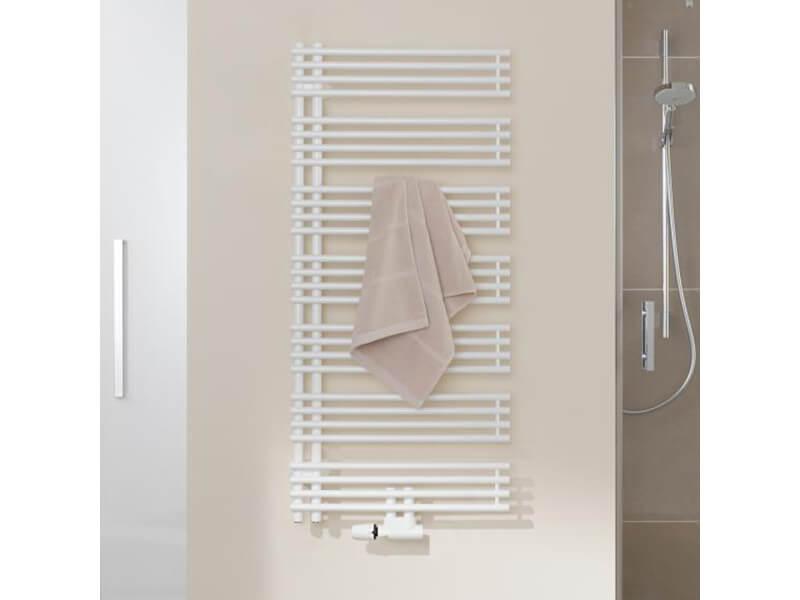 Rovný radiátor DIVEO Barva: bílá, boční připojení (ilustrační foto)