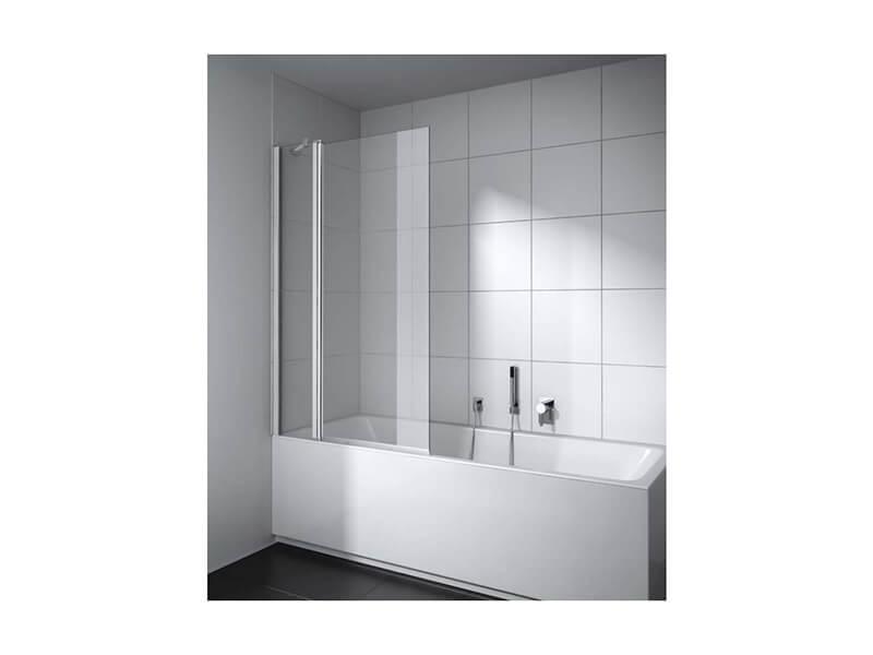 Vanová zástěna PLANO Provedení pravé, čiré sklo s povrchovou úpravou, barva rámu stříbrná lesklá