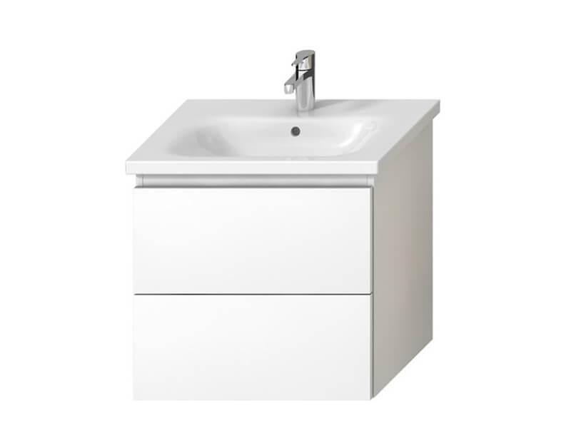 Skříňka pod umyvadlo MIO-N Závěsná skříňka, 2x zásuvka, barva bílá