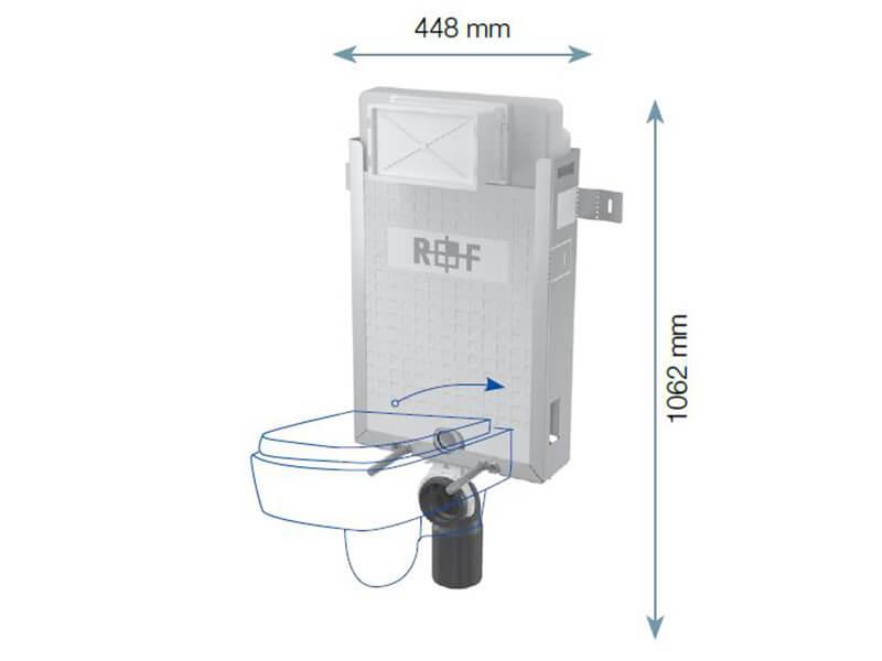 Instalační modul PLANO pro WC Pro závěsné WC, pro zazdění na pevnou zeď