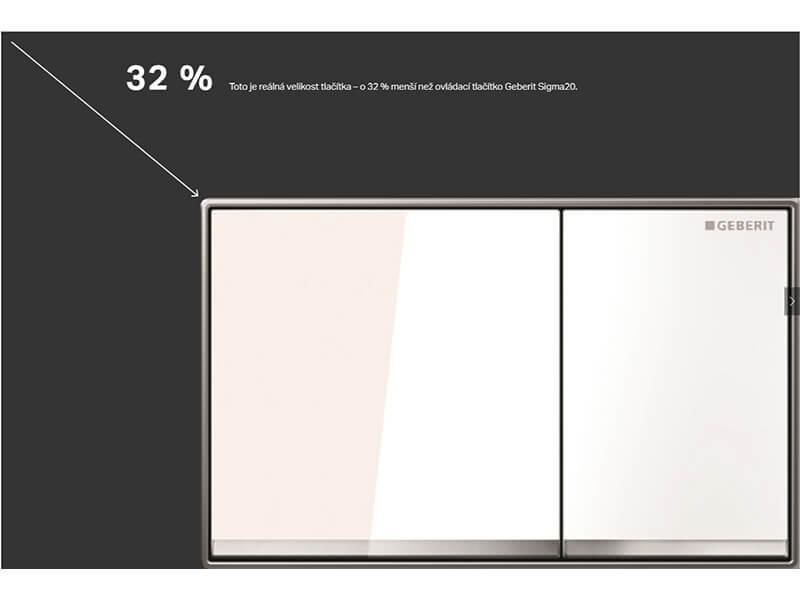Deska ovládací GEBERIT Dual flush, kov/sklo, barva bílá