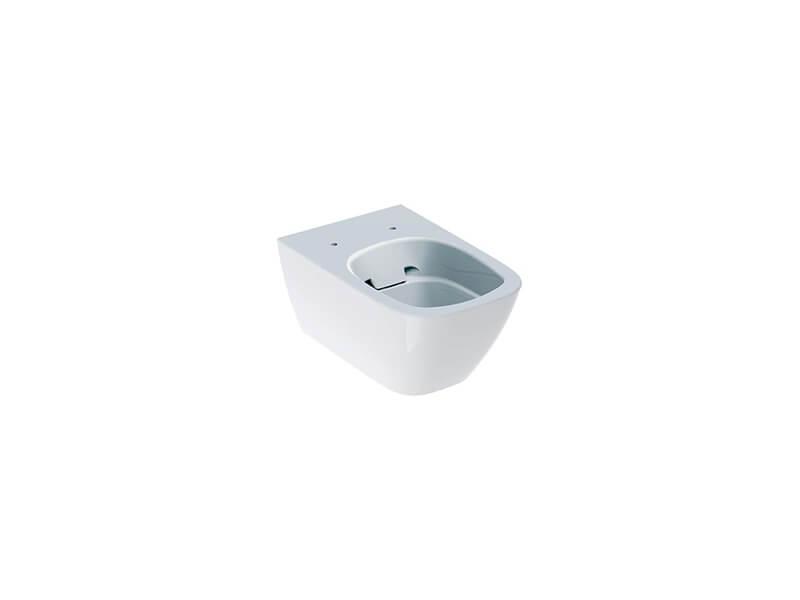 WC závěsné SMYLE SQUARE Rimfree, barva bílá