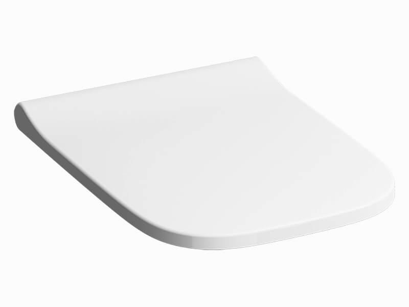 WC sedátko SMYLE SQUARE Zpomalovací/duroplat, barva bílá