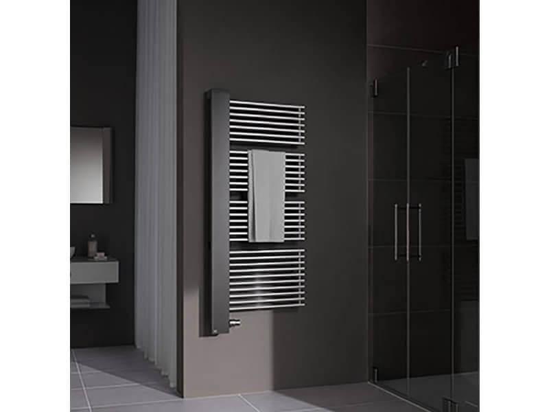 Koupelnový radiátor CREDO HALF Radiátor včetně ventilu, levé připojení, barva stříbrná
