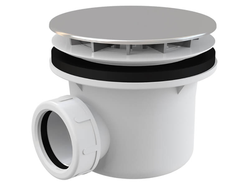 Sifon sprchový ALCAPLAST Výška pouze 63 mm, chrom