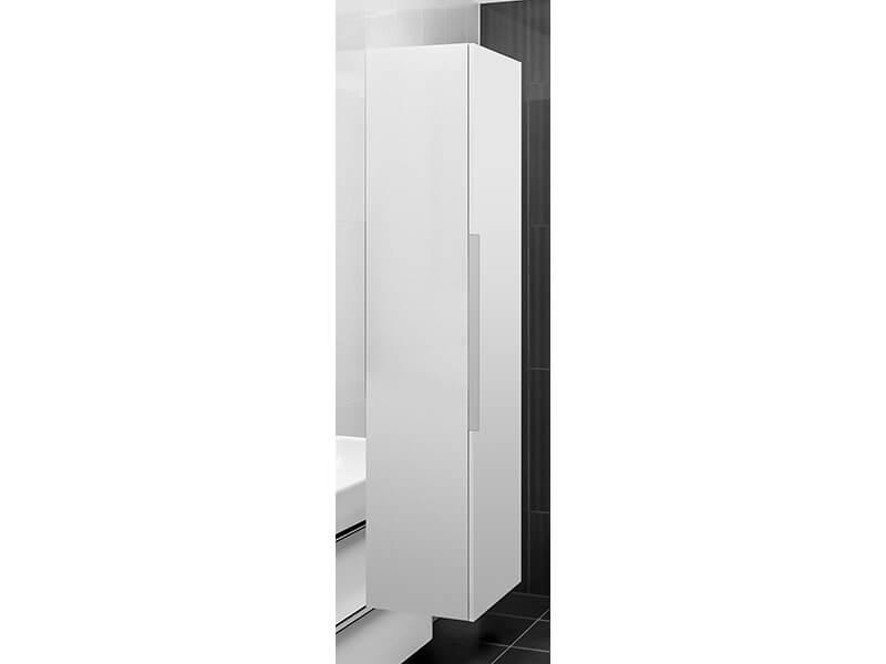 Skříňka boční vysoká HAPPY D2 Závěsná skříňka, 1x dvířka, pravá, barva bílá lesklá